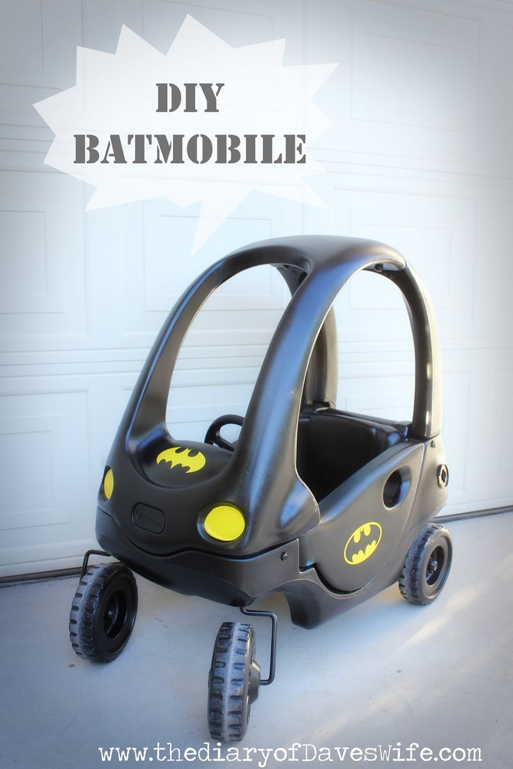 the Diary of DavesWife: DIY Batman & Batmobile