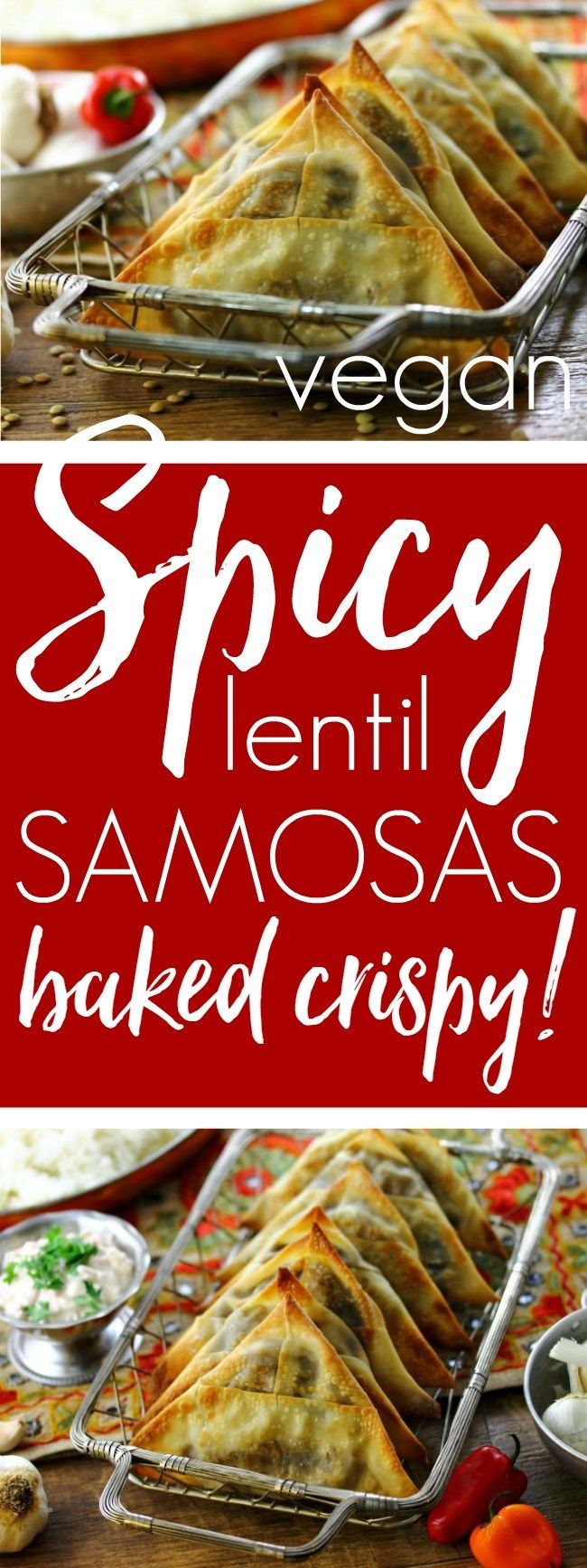 Spicy Lentil Samosas