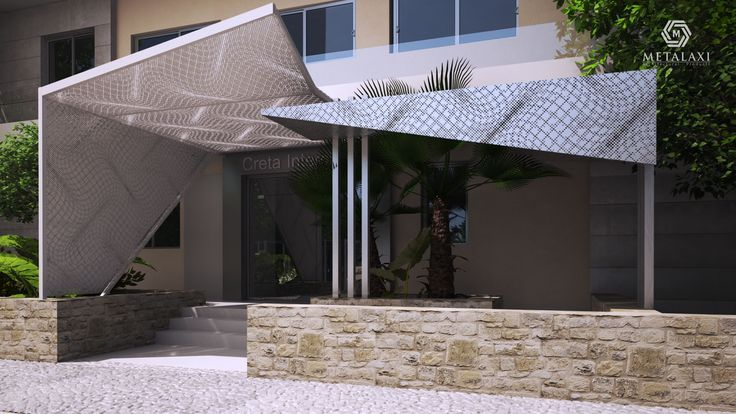 PERGOLA - ΠΕΡΓΚΟΛΑ Perforated Aluminum pergolas and awnings with unique patterns for commercial or residential use. Metalaxi Innovative Architectural Products. www.metalaxi.com Life is in the details.