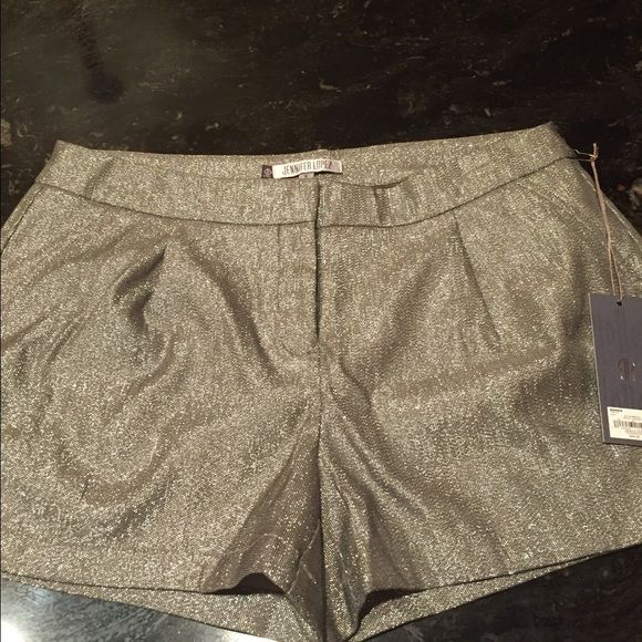"""Jennifer Lopez chic glitter shorts New with tags, these glittered shorts are perfect for that """"night out"""".  Never been worn! Jennifer Lopez Shorts"""