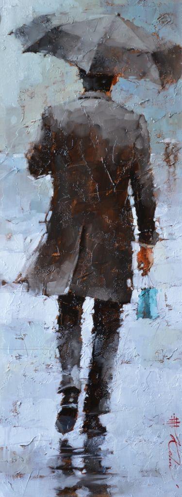 "The Anniversary Gift, series #10, 24"" x 9"", Oil by Andre Kohn www.andrekohnfineart.com"