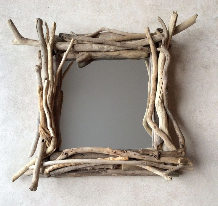 Les 70 meilleures images du tableau miroirs bois flott for Fabriquer porte manteau bois flotte