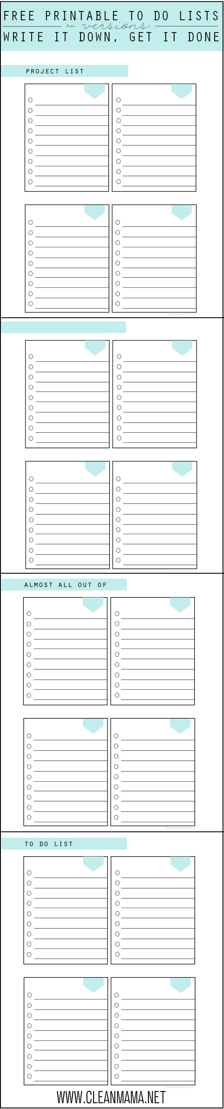 Need a simple and highly functional list? I've got a great free printable for you today that you can use in a variety of ways. Use it for multiple shopping stops, a place to write down to-dos, projects, a place for each person in your family, or anything else you can think of! It would... (read more...)