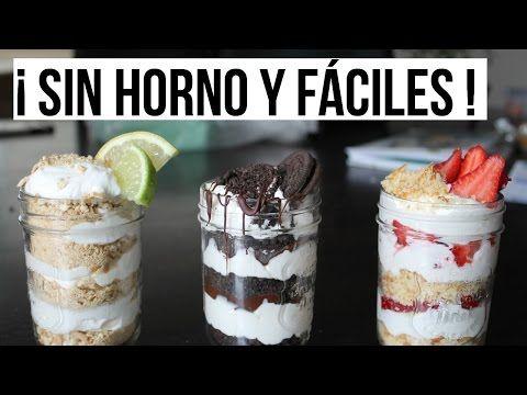 3 Postres Sin Horno Fáciles y Rápidos - YouTube
