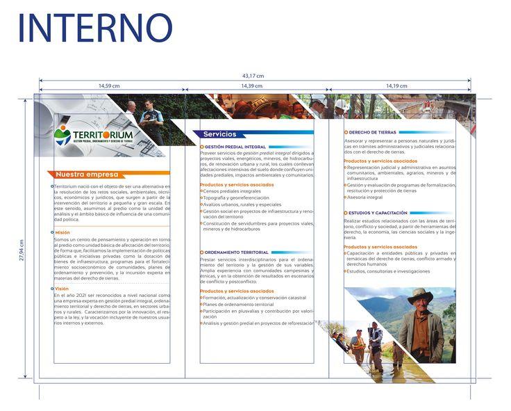 Diseño de brochure empresarial para Territorium #design #graphicdesign