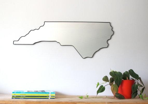 North Carolina State Wall Mirror $145