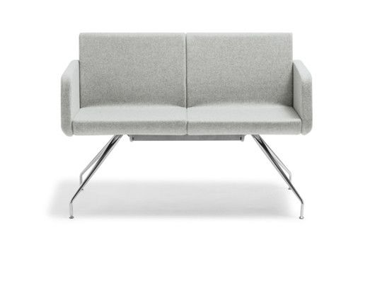 Sofia Couch : This elegant European visitor chair naturally enhances contemporary reception and public space areas.  The slim-line aesthetics and a distinctive chrome base ensure that Sofia always makes a statement.