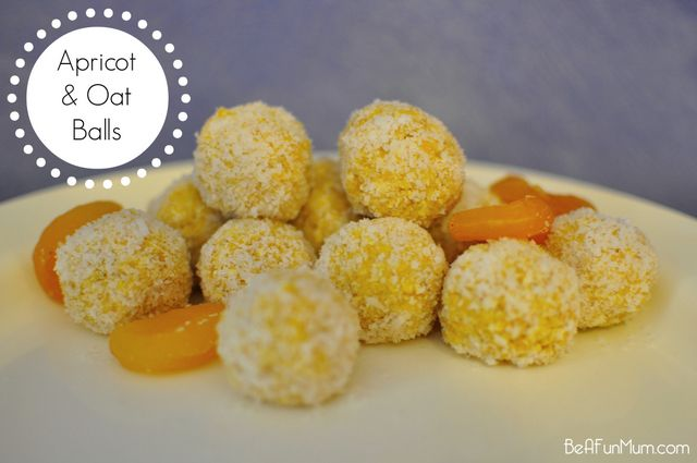 easy apricot balls recipe with oats - on beafunmum.com