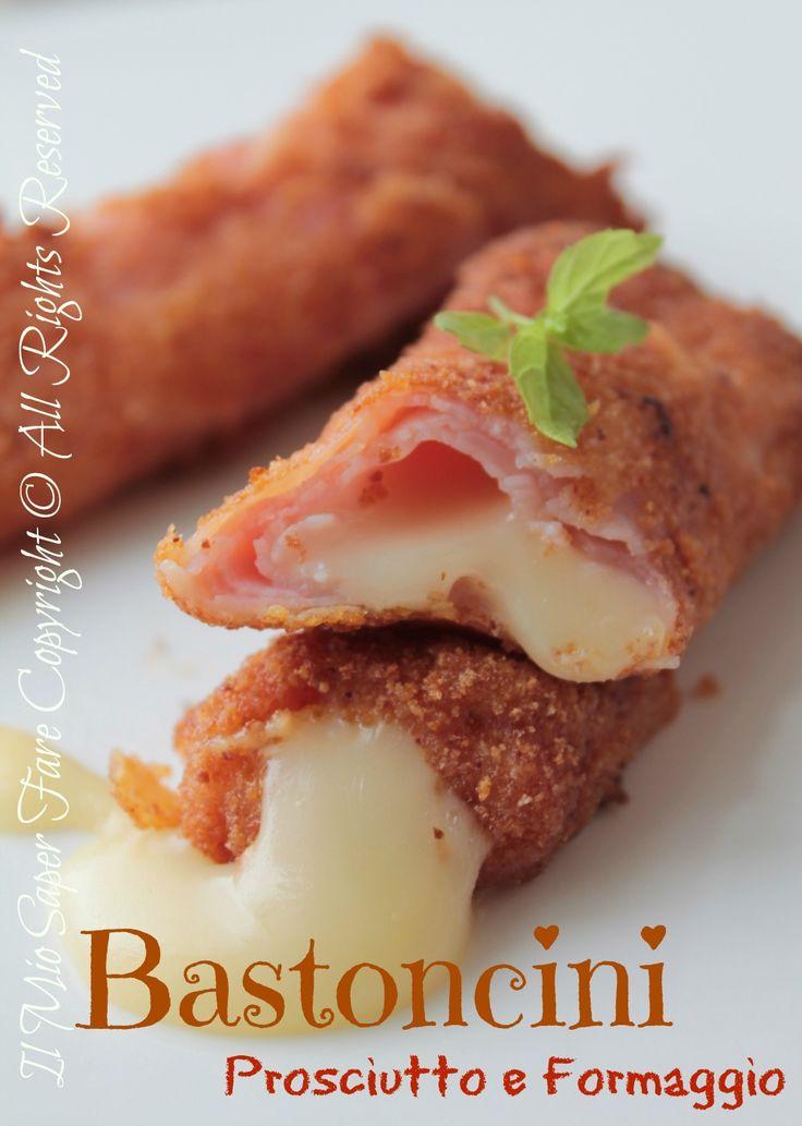 Bastoncini di prosciutto cotto e formaggio