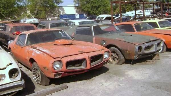 Rebuildable Muscle Cars | daves-goldwest-wrecking-firebirds | Vintage Muscle may need ...