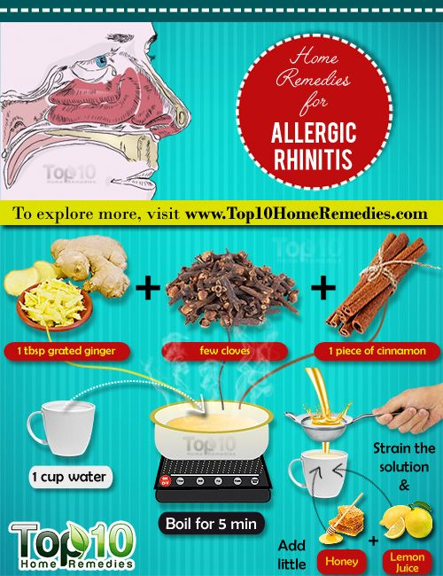 Home Remedies for Allergic Rhinitis Learn how you can use common kitchen ingredients like Ginger, Turmeric, Garlic, ACV etc to treat allergic rhinitis.