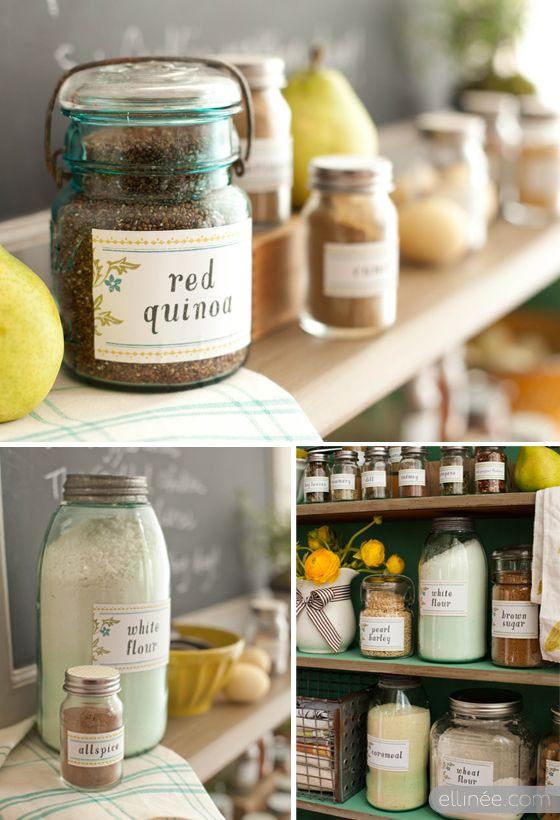 Kitchen Pantry Organization Labels