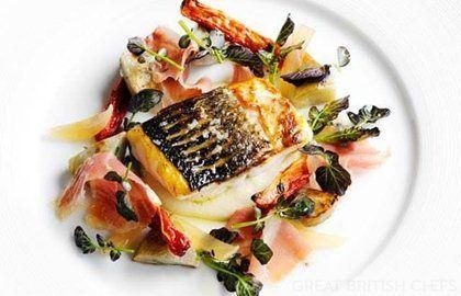 Sea Bass with Artichokes Recipe - Great British Chefs