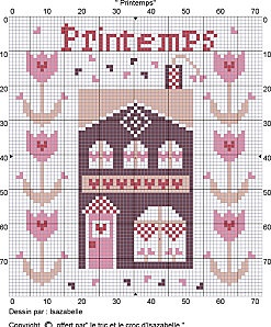 Printemps cross-stitch - free
