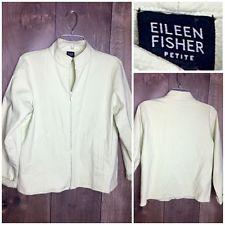 Eileen Fisher Lightweight Women's Zip Up Jacket Pale Green Size Petite M
