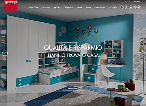 New website for Giessegi by Greenbubble