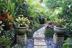 Noting like an enchanting walk through a tropical oasis. Tropical garden by Dennis Hundscheidt. Stunning garden on a 1/4 acre block.
