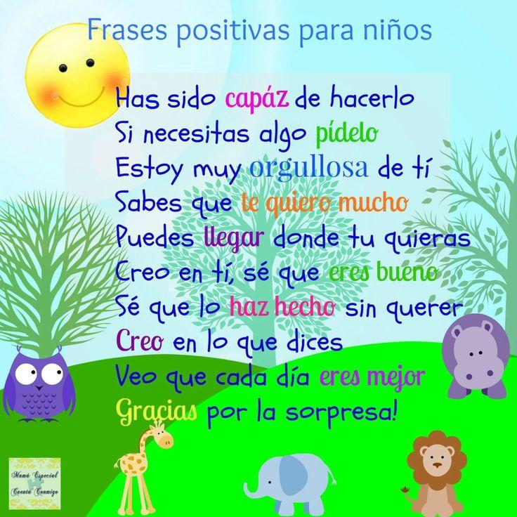 Frases positivas para niños #motivación                                                                                                                                                                                 Más