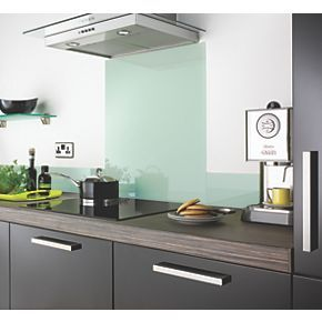 Order online at Screwfix.com. Distinctive glass upstand complements Whisper Toughened Glass Splashback (Code 5983F) making a focalpoint in any kitchen. Quick and easy to install with full self-adhesive backing. Hygienic and durable, easy to clean and maintain. FREE next day delivery available, free collection in 5 minutes.