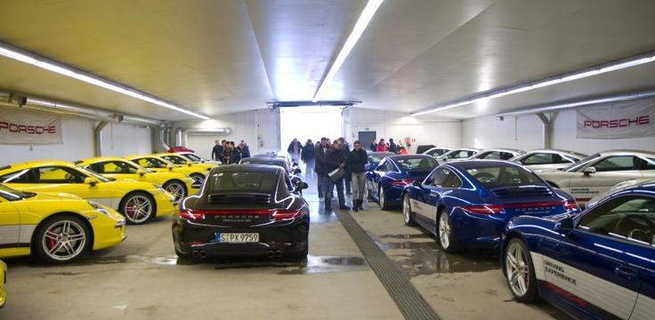 The Porsche garage at Ivalo Finland.