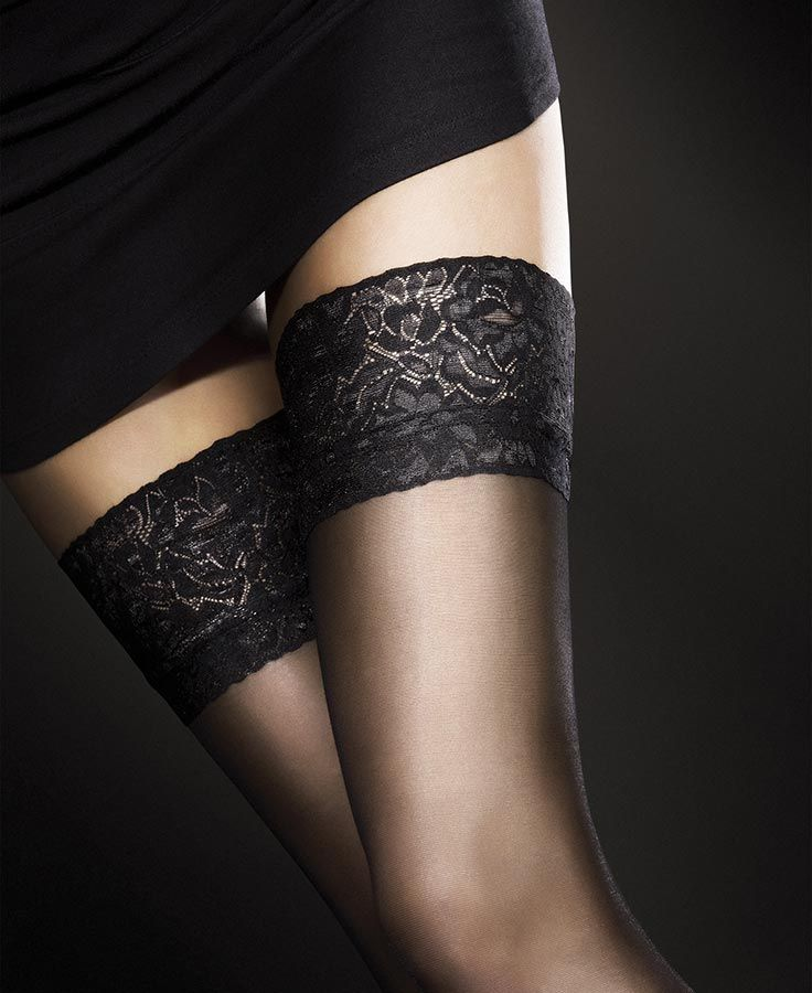 Stay up #thighhighs beautifully compliments any outfit. Designed in Poland #Fantasylingerie Fantasylingerie.com.au