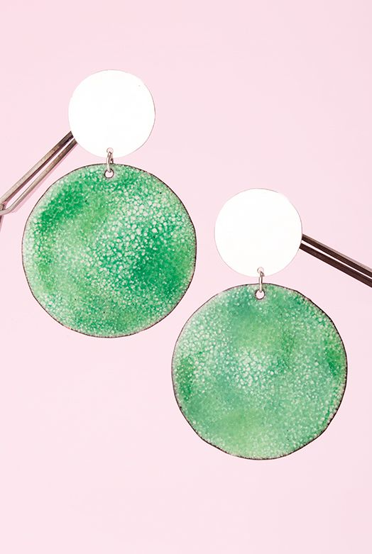 Rainforest Imaginary Planet Earrings (Large)Imaginary Planet earrings are a space-eye view of ...