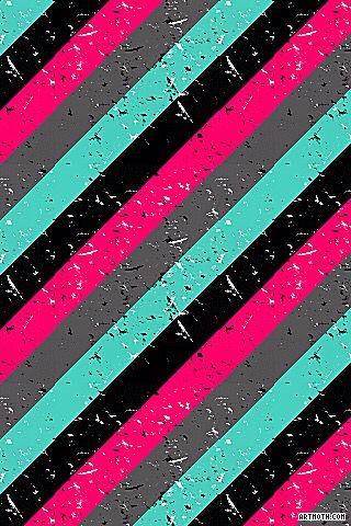 Paint Splatters on Diagonal Stripes iPhone Wallpaper