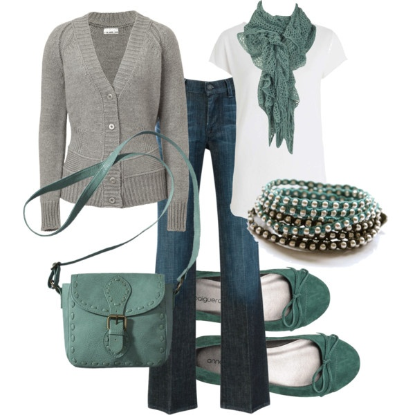 OutfitColors Combos, Fashion, Casual Outfit, Mint Green Outfit, Style, Clothing, Jeans Outfit, Fall Outfit In Green, Heather Grey