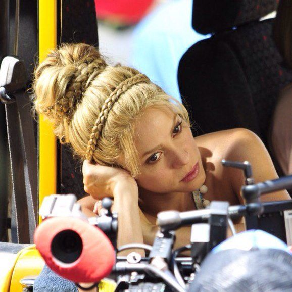 Beautiful Shakira shooting `La Bicicleta´ at Parque Rosado, Barranquilla ○○ Bella Shakira grabando `La Bicicleta´ en el Parque Rosado, Barranquilla ○○ 20/05/2016