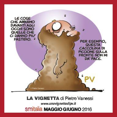 Vignetta di Pietro Vanessi sull'ultimo numero della rivista d'informazione sulla sclerosi multipla SM Itaiia