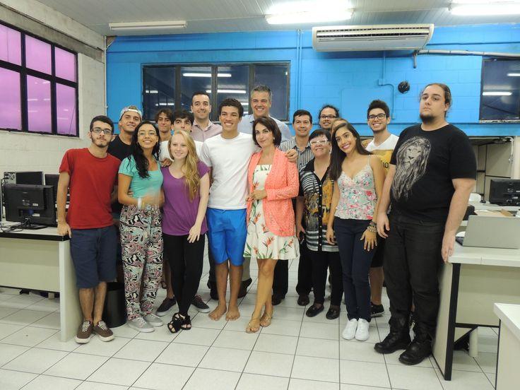 Turma de alunos da Unisanta, Santos, jornalista, comunicação, marketing