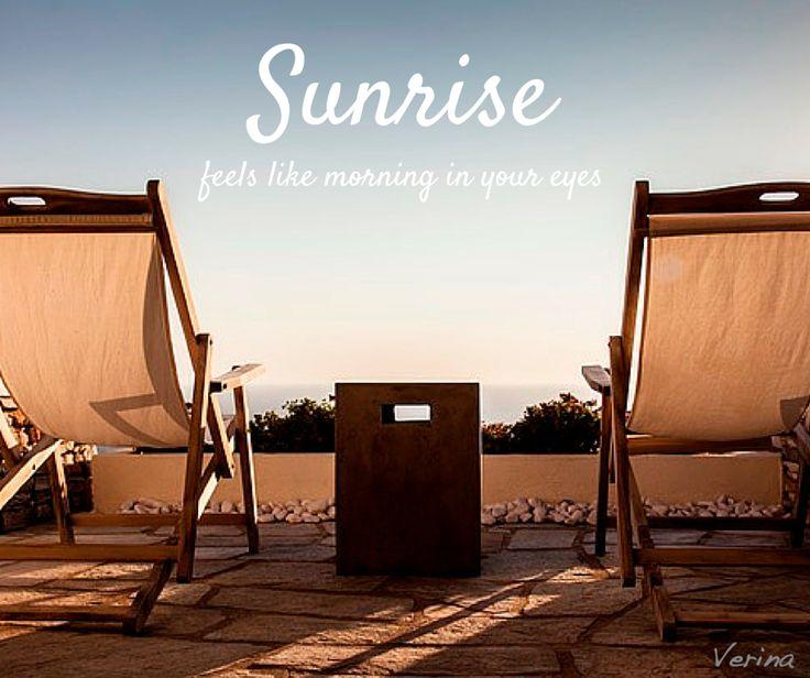 Sunrise in Sifnos #greekparadise #sifnosisland #sunrise #quote #greece