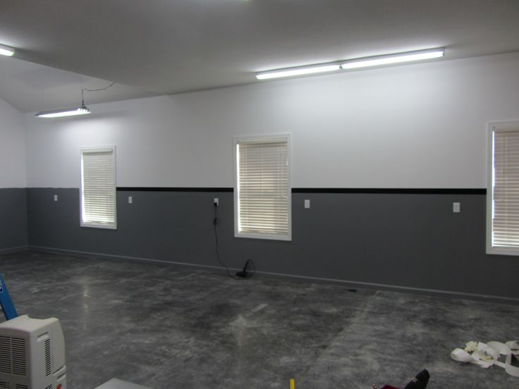 grey and black garage wall paint colors contrasting design ideas - Interior Design Paint Ideas