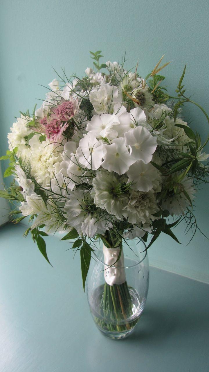 August bride's bouquet