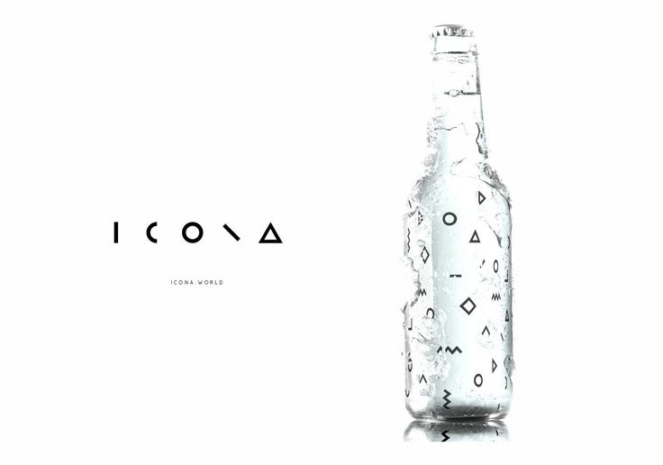 Logo and design by Bull-Stark  Name developement and logo design / graphic design / packaging design for the botteled water ICONA.  Identity design and Retail concept was built on the logo design.