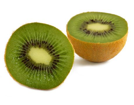 Kiwi peel provides a barrier from pesticides. Give them a rinse before cutting. Choose: Here's where your nose plays an important part when choosing fresh fruit. Sniff out kiwis that smell good. They should be plump and yield to a squeeze like that of a ripe pear. Steer clear from those with moist areas on their surface or any skin bruising. If unripe kiwi are all that are available, simply take them home and place them in a paper bag at room temperature with other fruits that need more…