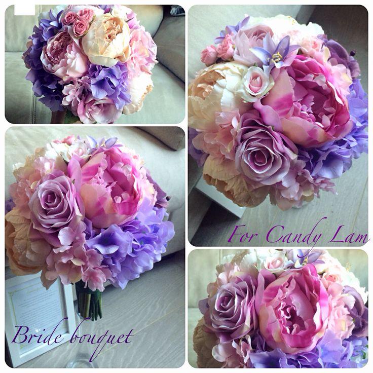 Purple And Champagne Colors Bride Bouquet Facebook LemongrassWedding