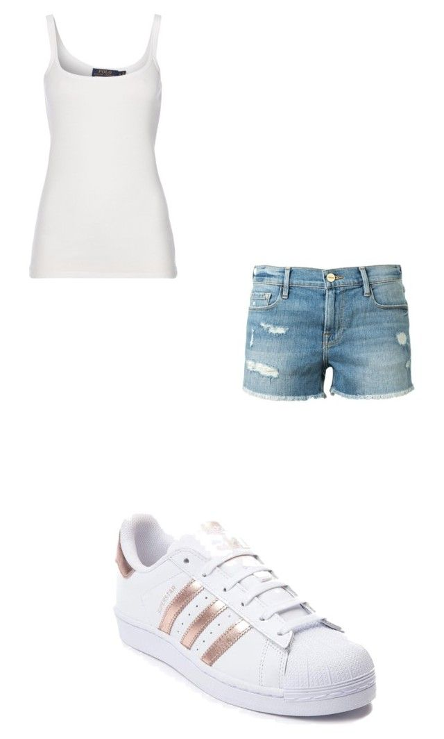 """#422"" by aureeliet on Polyvore featuring Polo Ralph Lauren, adidas and Frame"