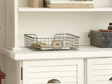 Wire Mesh Wall-Mount Magazine Rack - eclectic - desk accessories - - by Pottery Barn