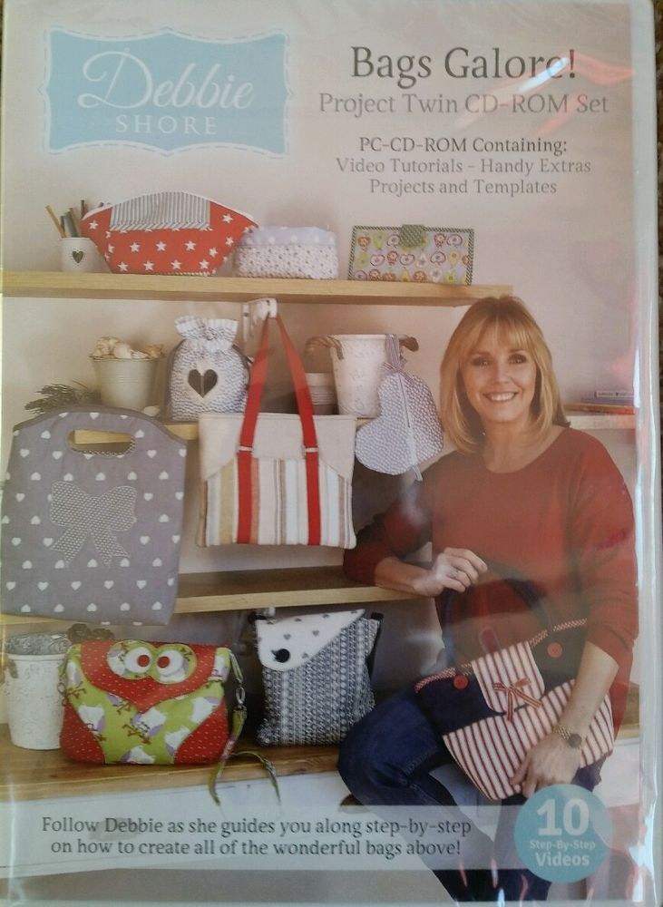 #DebbieShore #Bags Galore Project Twin CD-ROM Set Brand New #sewing #artscrafts #creative