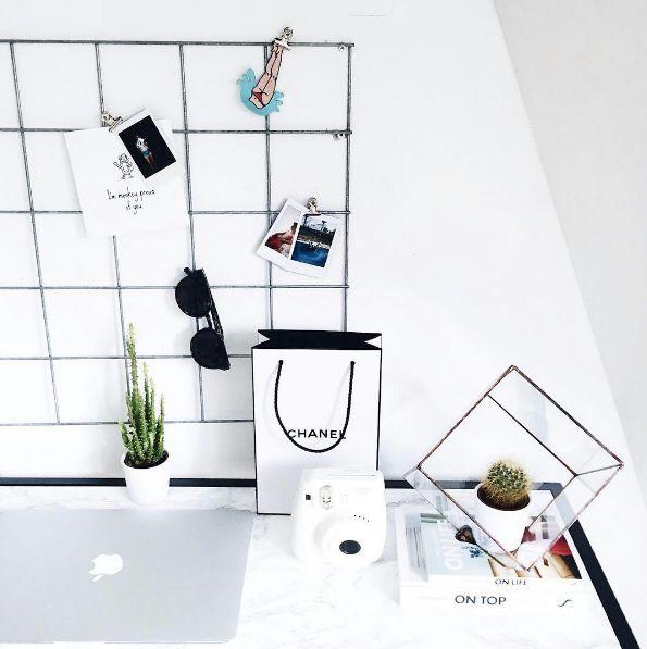 grid wall decor.