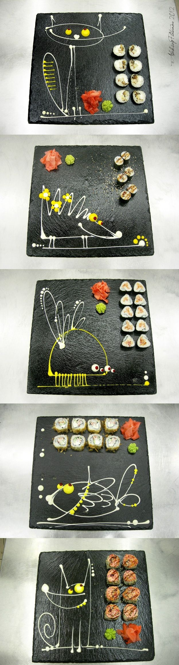 this sushi is funny too....playing with your food