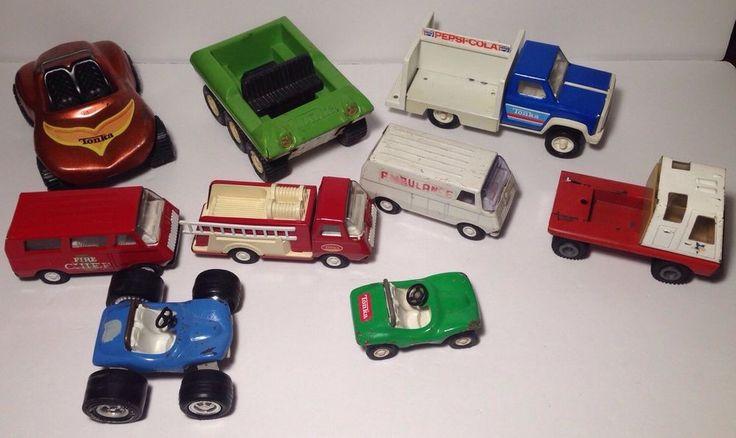 Huge Vintage Tonka Truck Lot W/Fire Truck, Dune Buggy, Ambulance & More  | eBay