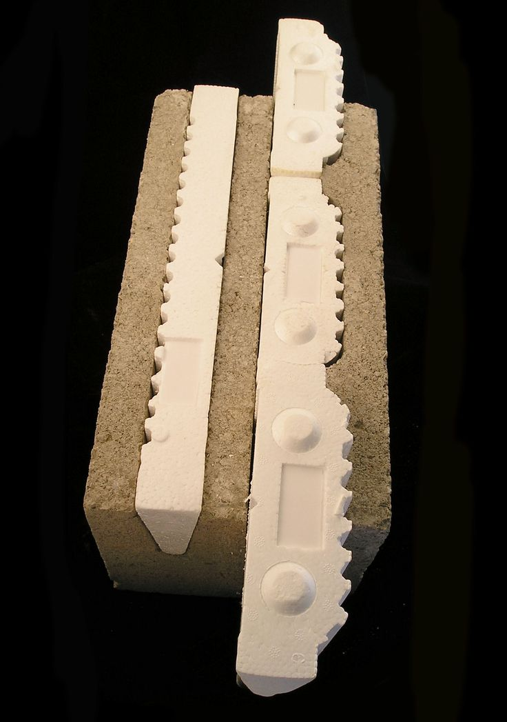 Insulated - The Endura EPS foam inserts are 1/16th taller than the blocks, compensating for possible slight irregularities in the block which forms a seal around the blocks. Obviously, the inserts insulate. They also allow for minimal sound and temperature penetration anywhere around the block.