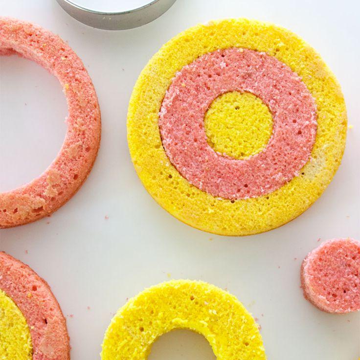 Checkerboard Rainbow Cake Recipe
