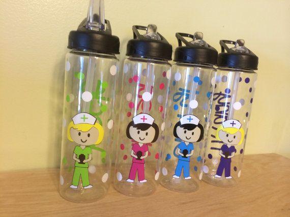 Personalized clear plastic sport water bottle flip by for Unique plastic bottles
