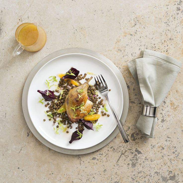 Duck confit with lentil & orange salad | Thermomix | Good food, gluten free