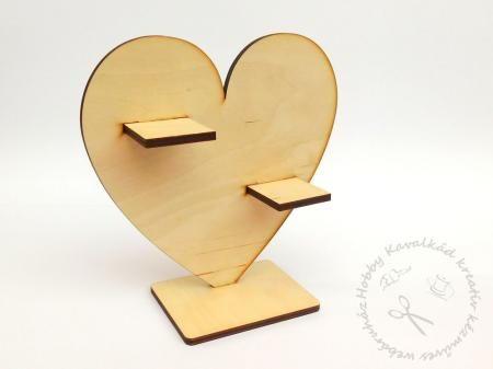 Hobbykavalkad - Webshop - Fa álló szív alakú mécsestartó