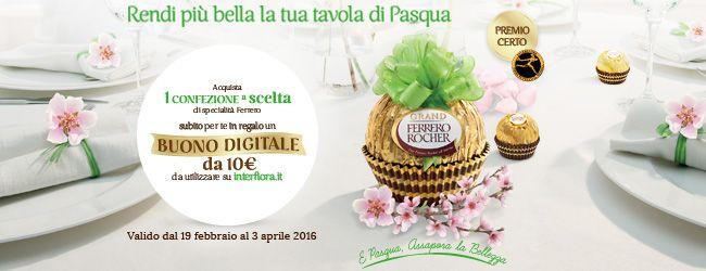 Buono Sconto Interflora con Ferrero