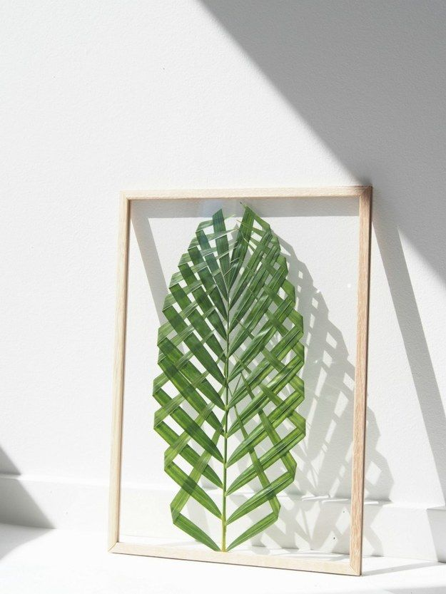 add some nature to your walls with diy leaf art - Diy Decor